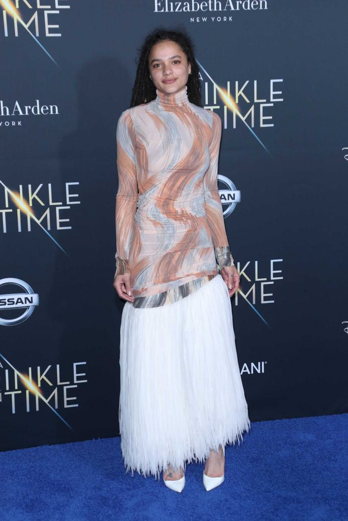 Sasha Lane at A Wrinkle in Time Premiere in Los Angeles-2