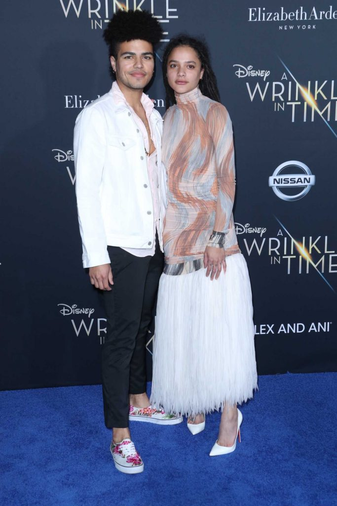 Sasha Lane at A Wrinkle in Time Premiere in Los Angeles-4