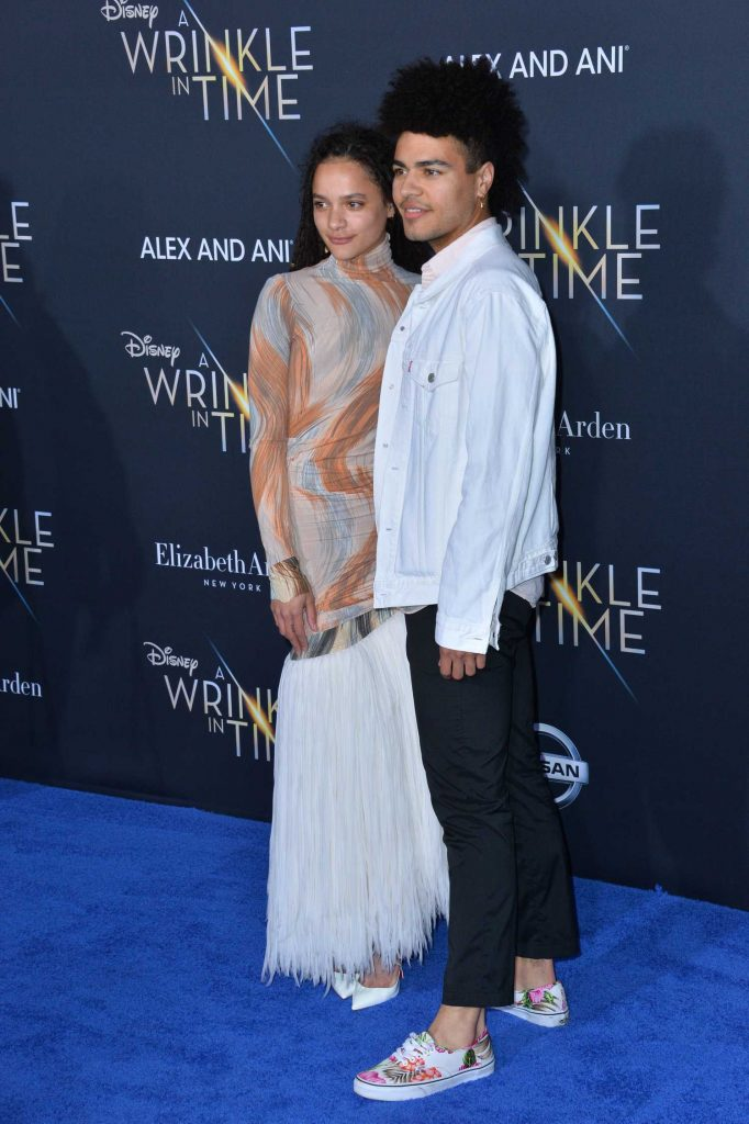 Sasha Lane at A Wrinkle in Time Premiere in Los Angeles-5