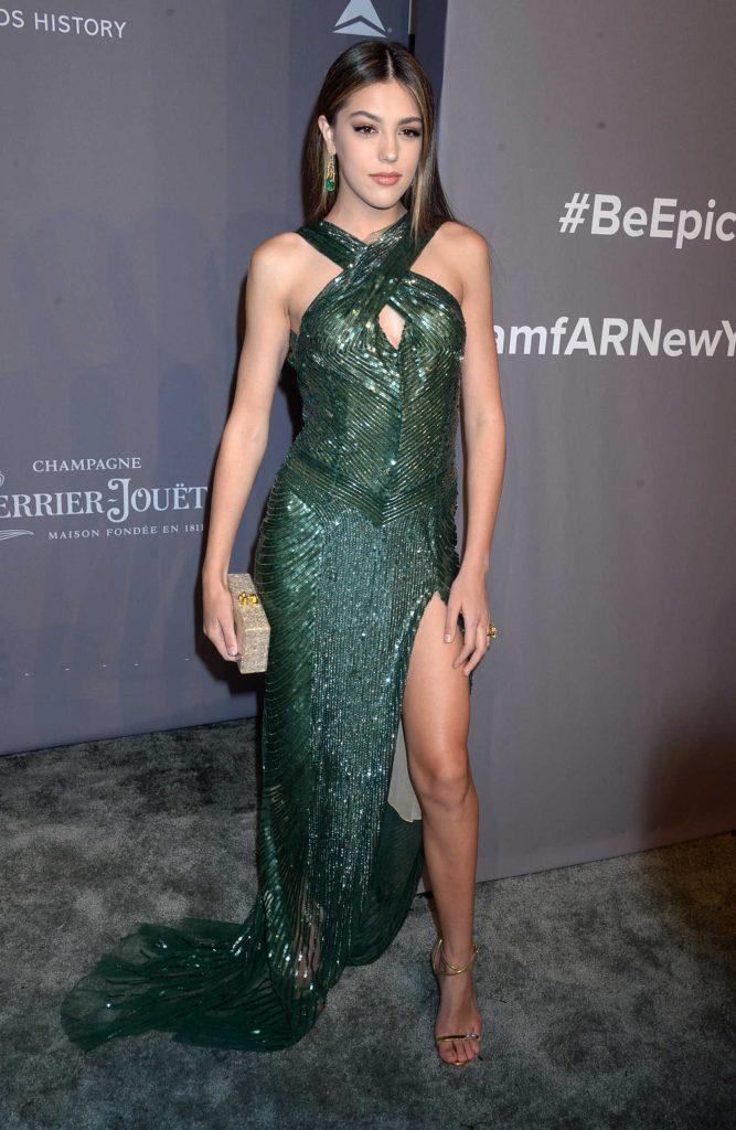 Sistine Stallone at 2018 amfAR Gala New York at Cipriani Wall Street in New York City-2