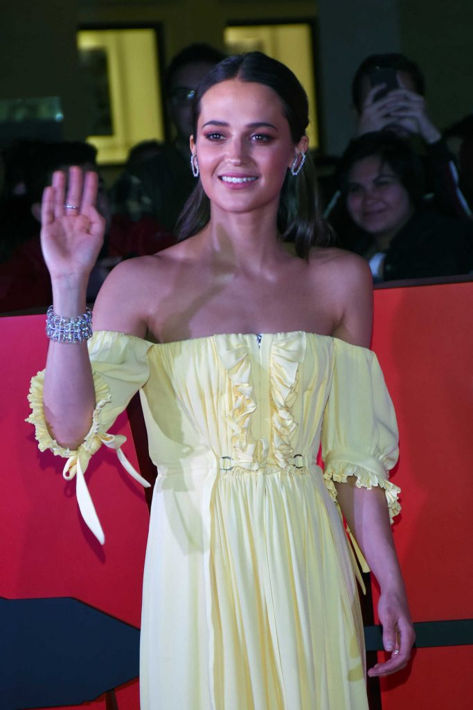 Alicia Vikander at the Tomb Raider Premiere at Oasis Coyoacan in Mexico-3