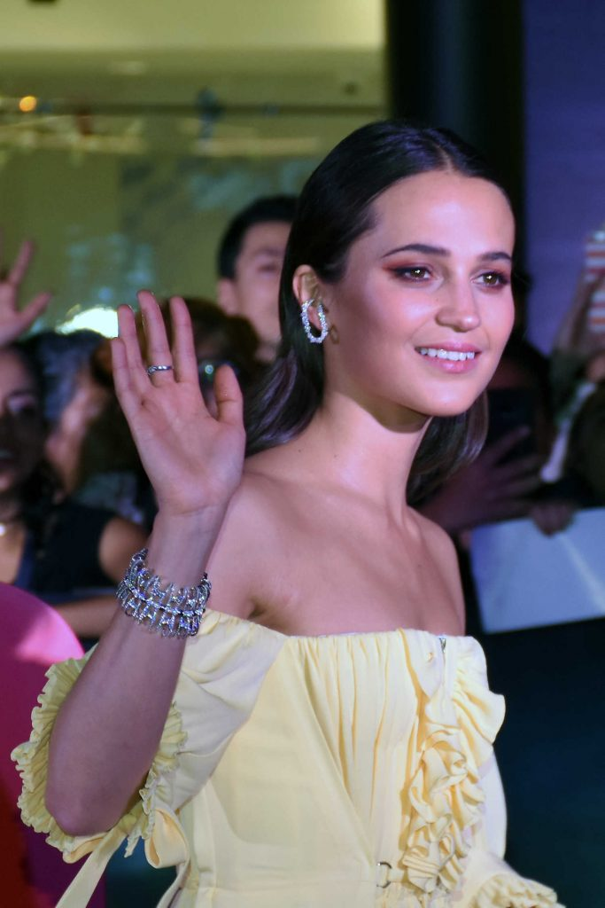 Alicia Vikander at the Tomb Raider Premiere at Oasis Coyoacan in Mexico-4