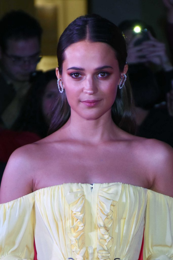 Alicia Vikander at the Tomb Raider Premiere at Oasis Coyoacan in Mexico-5