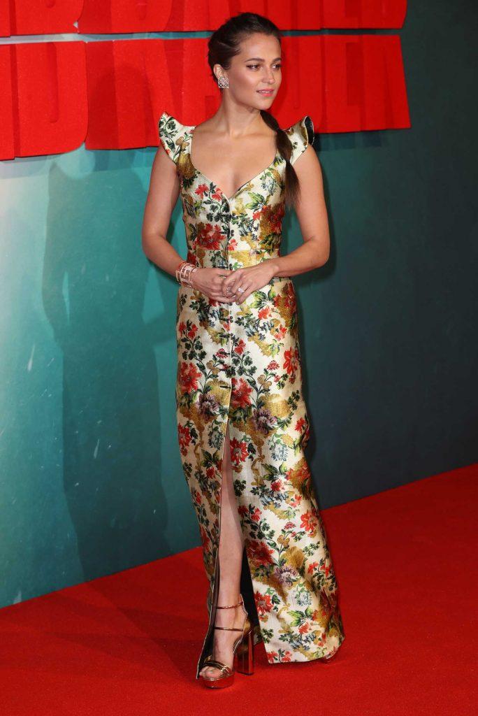 Alicia Vikander at the Tomb Raider Premiere in London-2