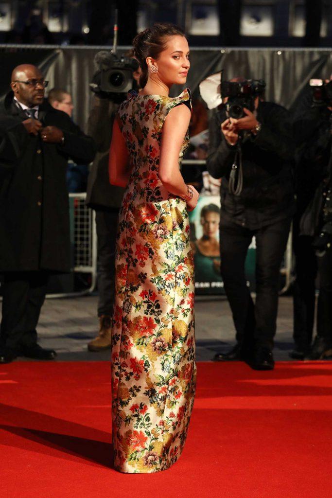 Alicia Vikander at the Tomb Raider Premiere in London-4