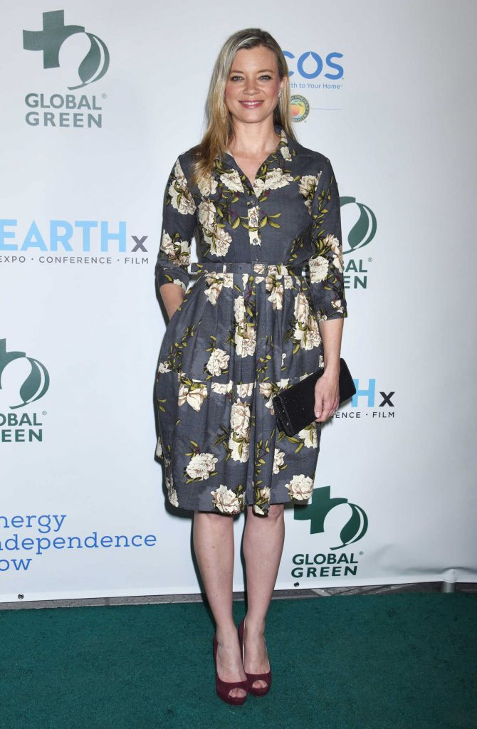 Amy Smart at the 15th Annual Global Green Pre-Oscar Gala in Los Angeles-1