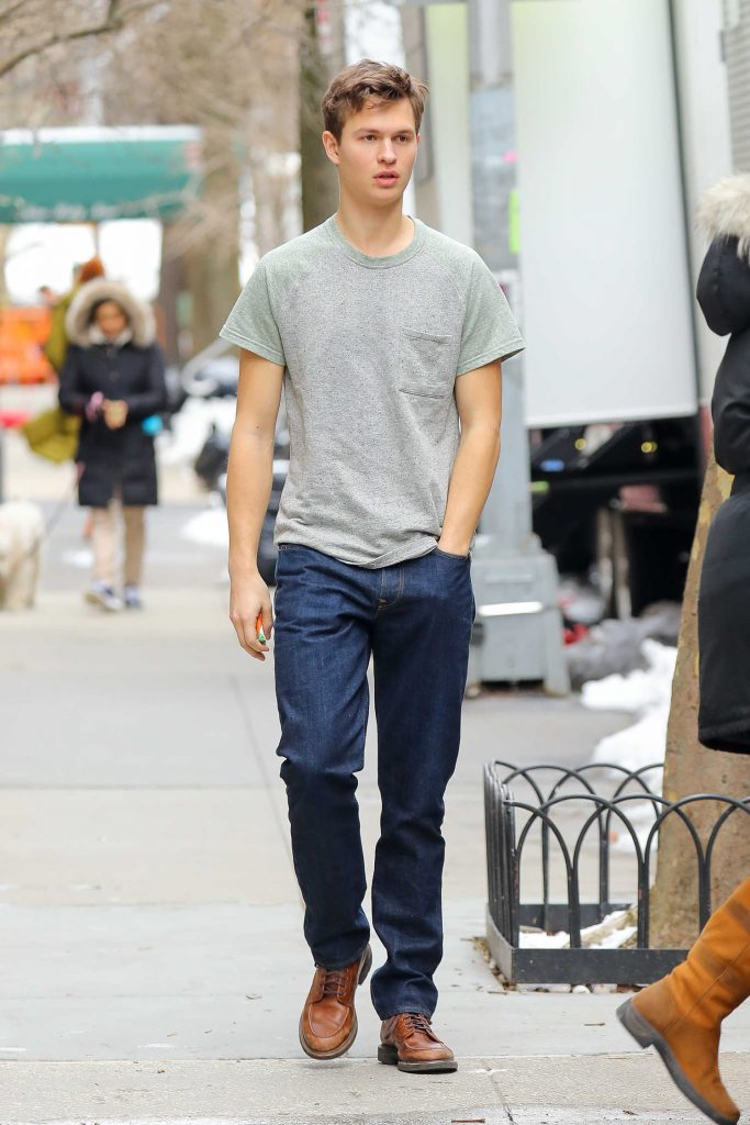 Ansel Elgort Was Seen Out in the Upper East Side in New York City-1