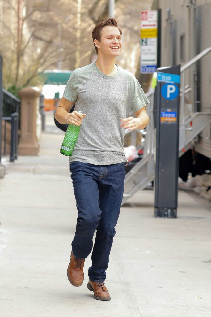 Ansel Elgort Was Seen Out in the Upper East Side in New York City-3