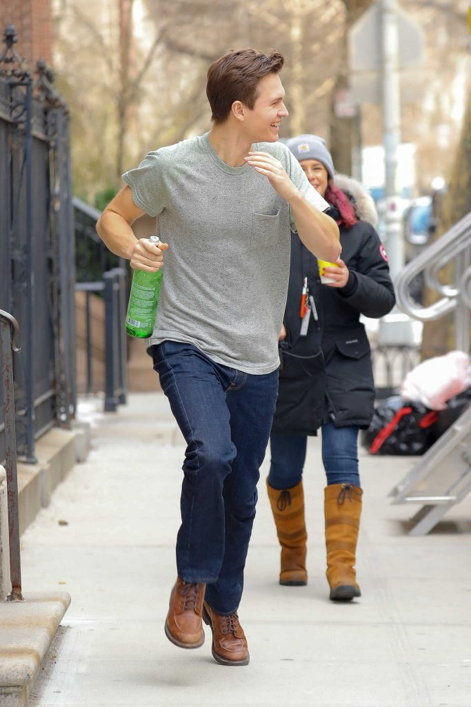 Ansel Elgort Was Seen Out in the Upper East Side in New York City-5