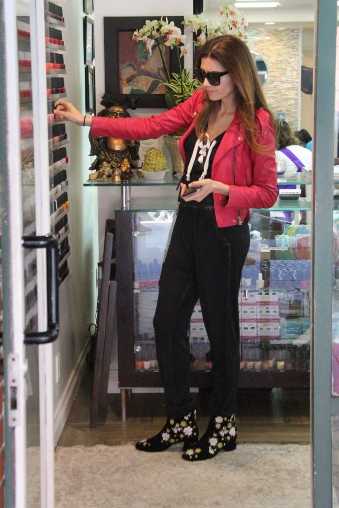 Blanca Blanco Leaves the Beverly Hills Nail Design in Beverly Hills-1