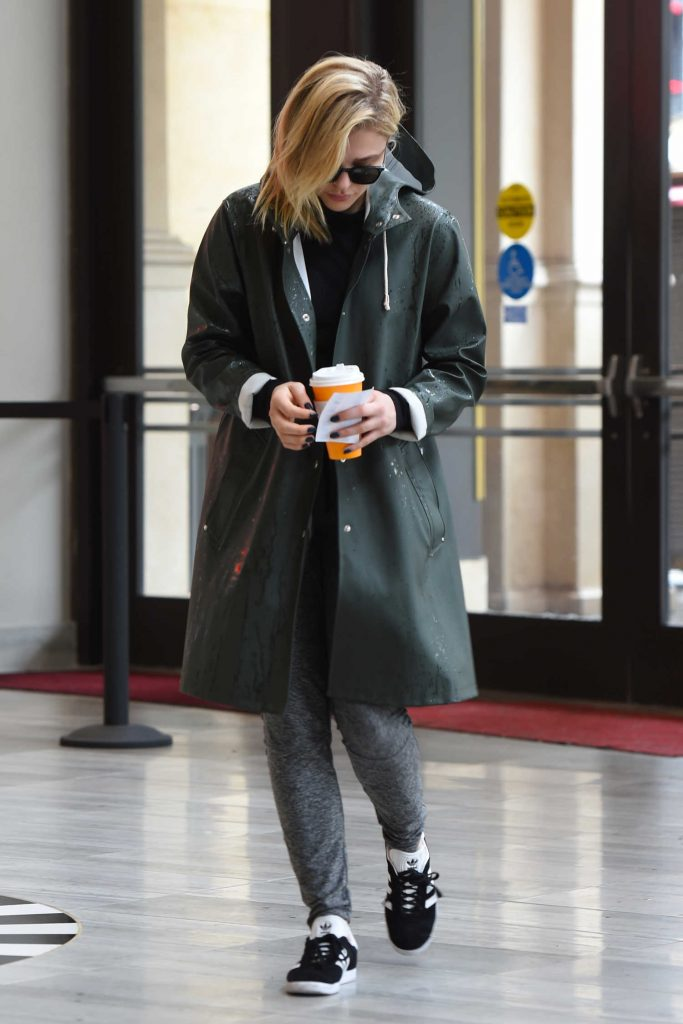 Chloe Moretz Arrives at the Cinema with Her Brother Colin in LA-1