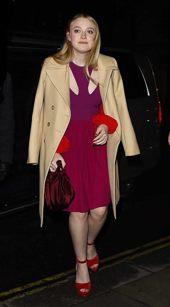 Dakota Fanning Heads Out for Dinner in Mayfair in London-1