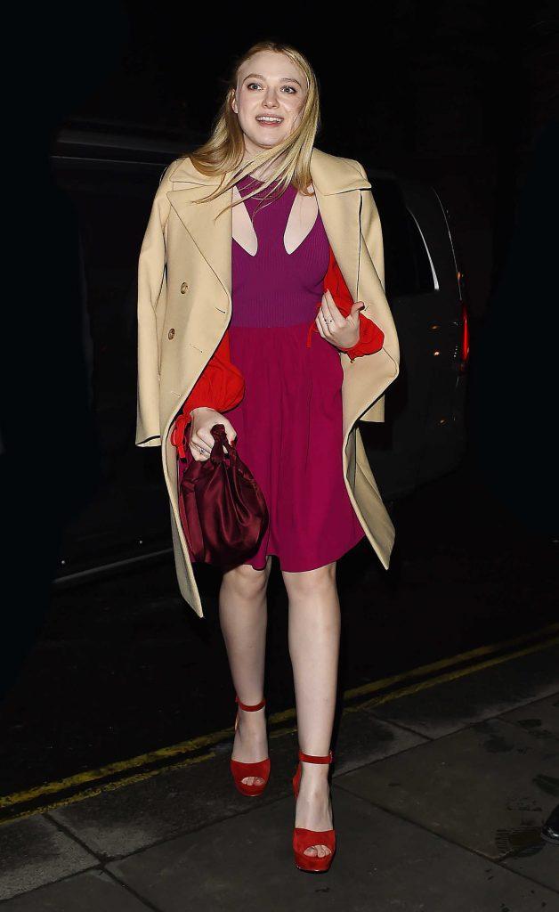 Dakota Fanning Heads Out for Dinner in Mayfair in London-2