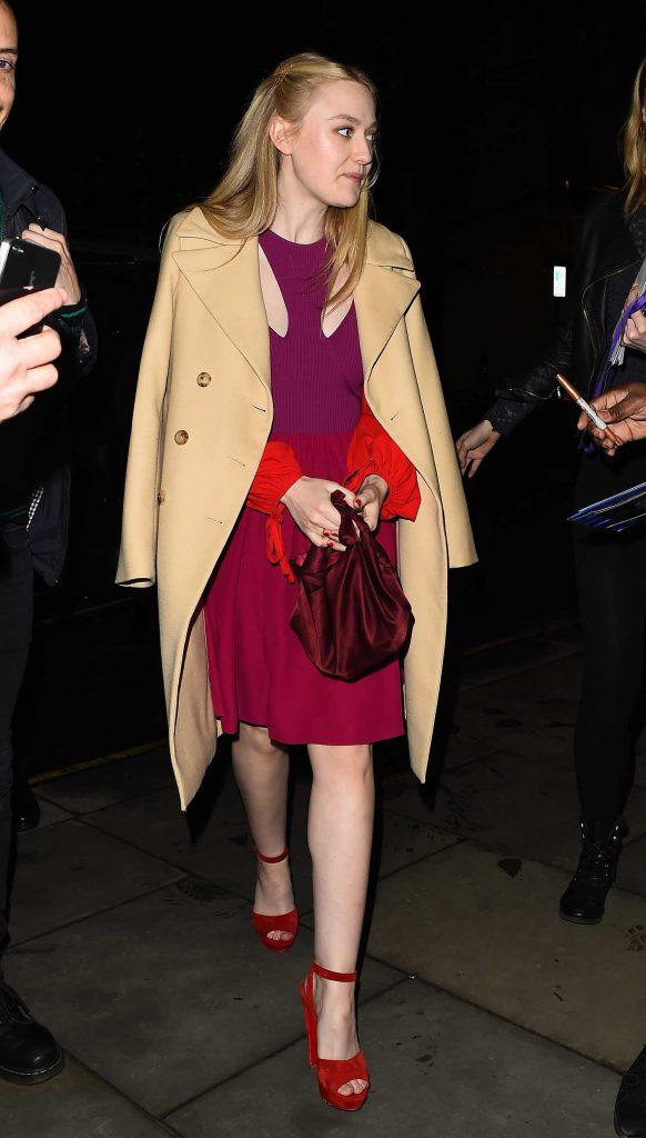 Dakota Fanning Heads Out for Dinner in Mayfair in London-4
