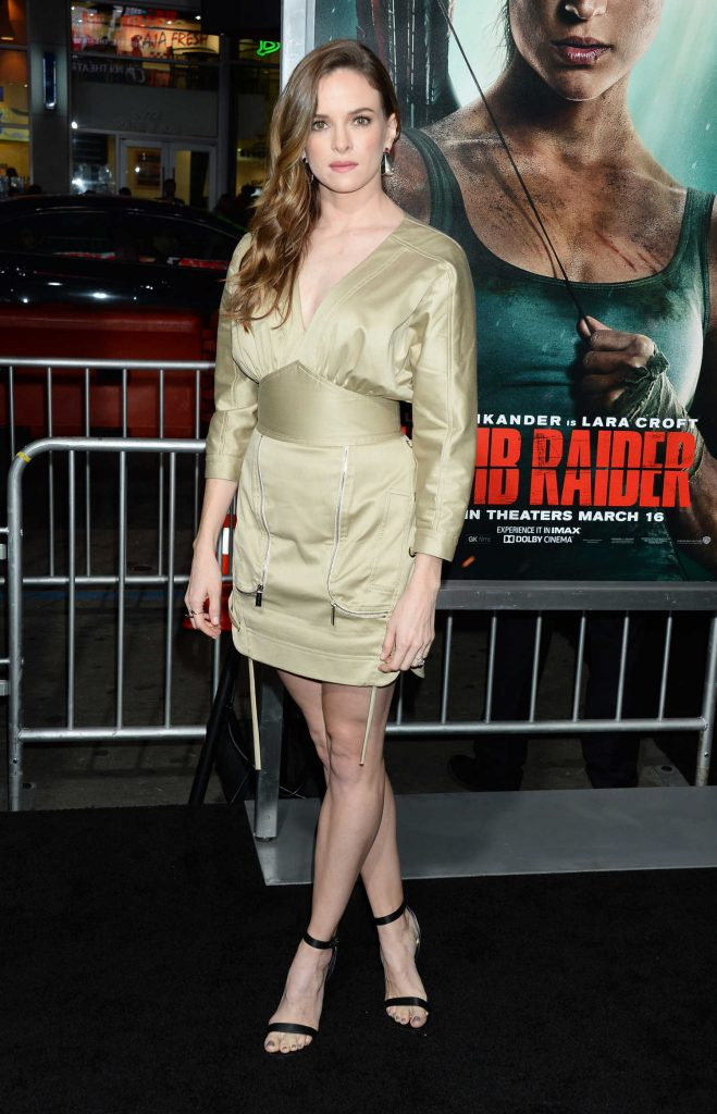 Danielle Panabaker at Tomb Raider Premiere in Hollywood-1