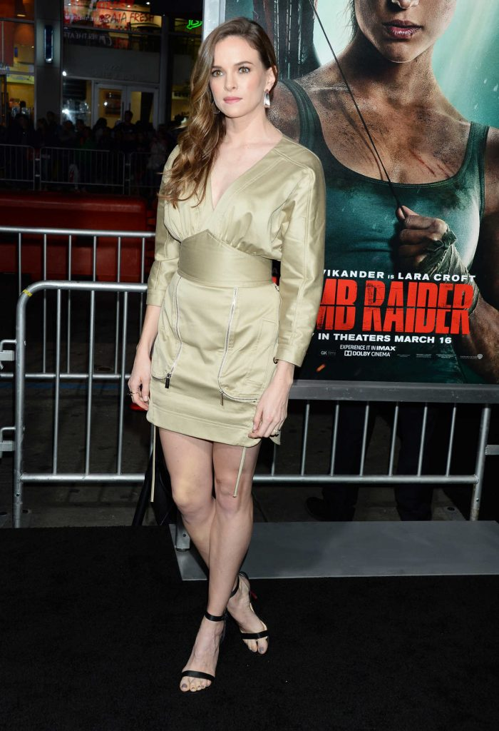 Danielle Panabaker at Tomb Raider Premiere in Hollywood-2