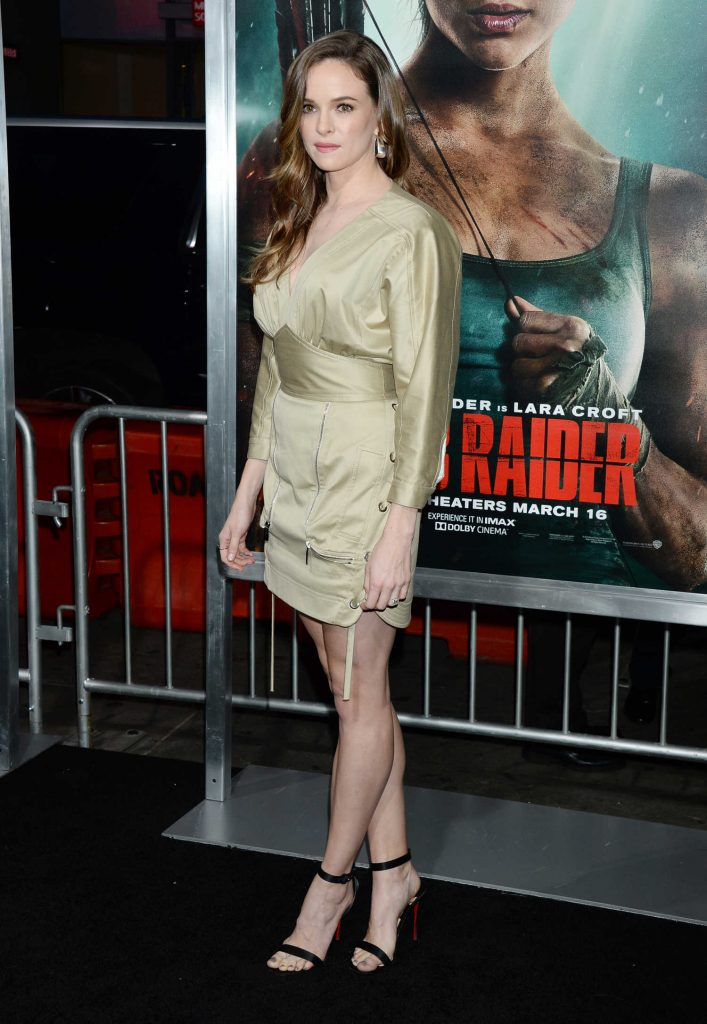 Danielle Panabaker at Tomb Raider Premiere in Hollywood-3