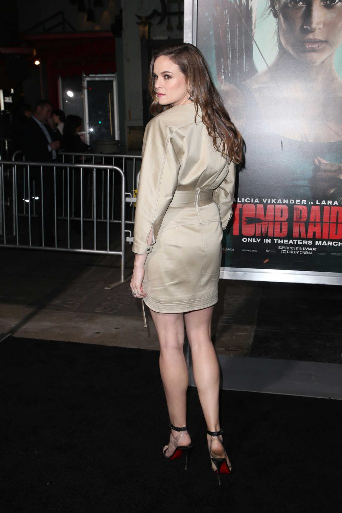 Danielle Panabaker at Tomb Raider Premiere in Hollywood-4