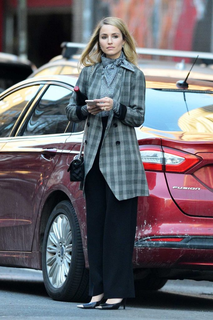 Dianna Agron Holds a Bottle of Wine Out in New York City-1