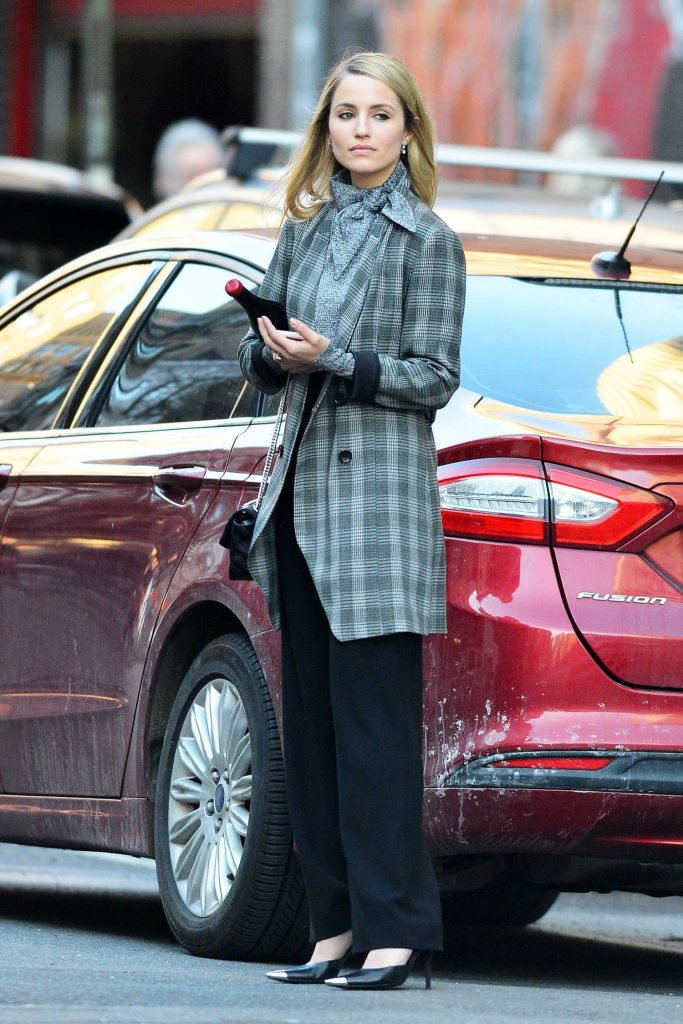 Dianna Agron Holds a Bottle of Wine Out in New York City-3