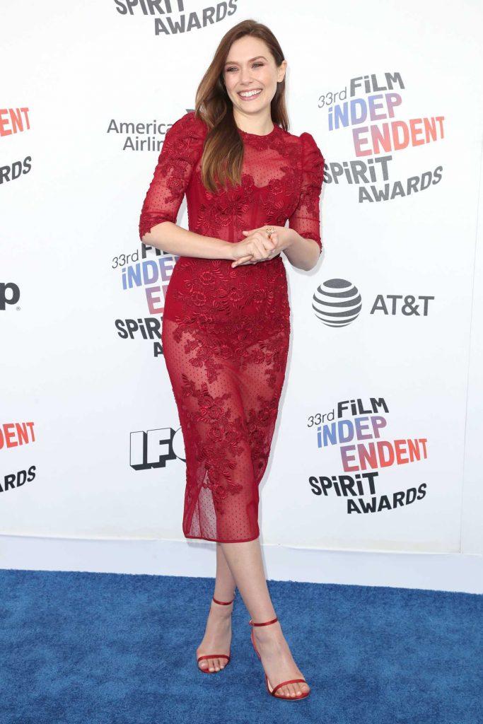 Elizabeth Olsen at the 33rd Film Independent Spirit Awards in Santa Monica-2