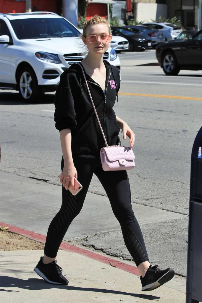 Elle Fanning Hits the Gym in West Hollywood-1