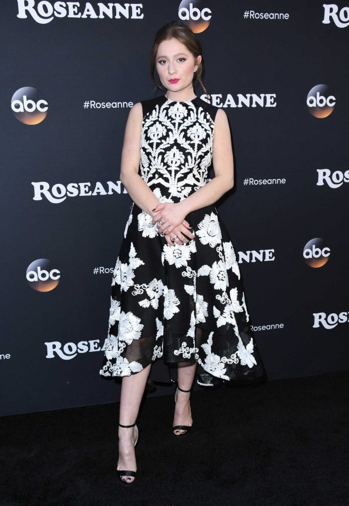 Emma Kenney at the Roseanne Series Premiere in Burbank-1