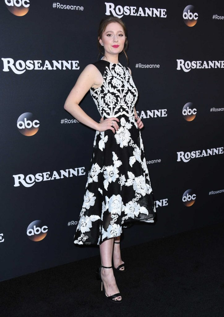 Emma Kenney at the Roseanne Series Premiere in Burbank-2