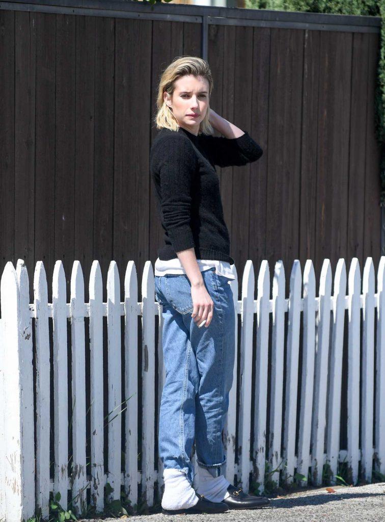 Emma Roberts Was Spotted on a Smoke Break in LA-1