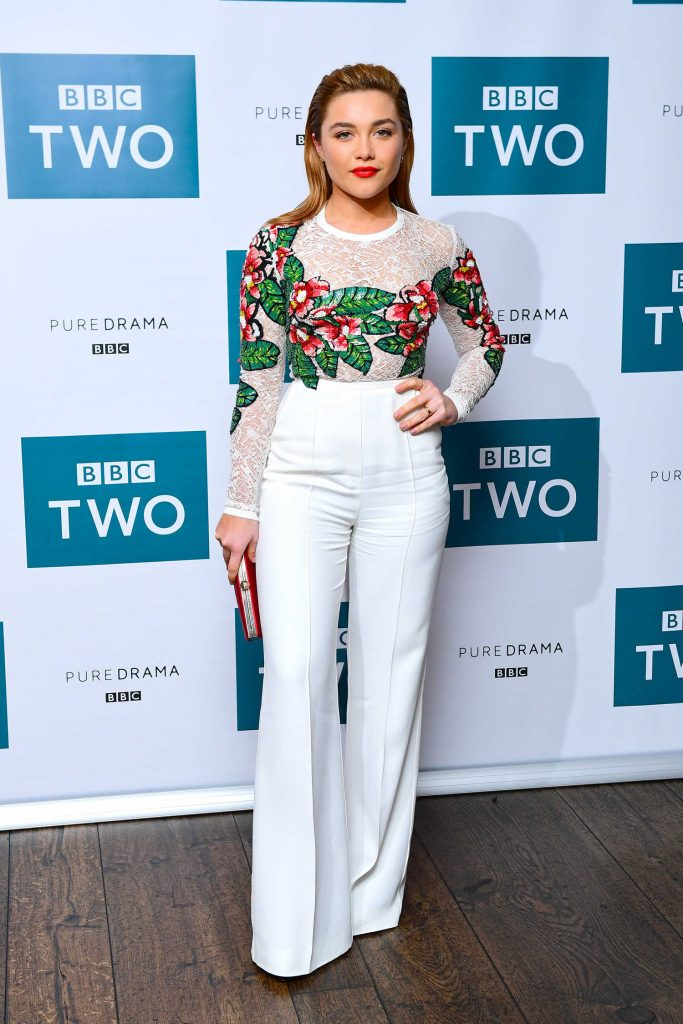 Florence Pugh at the King Lear BBC Screening at The Soho Hotel in London-1