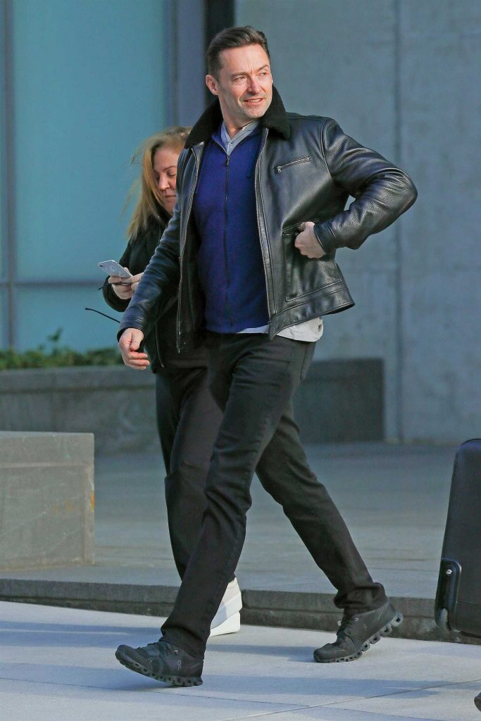 Hugh Jackman Leaves His Home in New York-1
