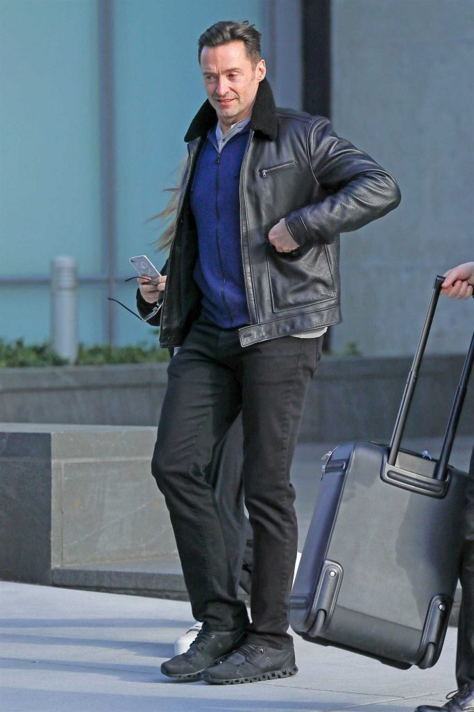 Hugh Jackman Leaves His Home in New York-2