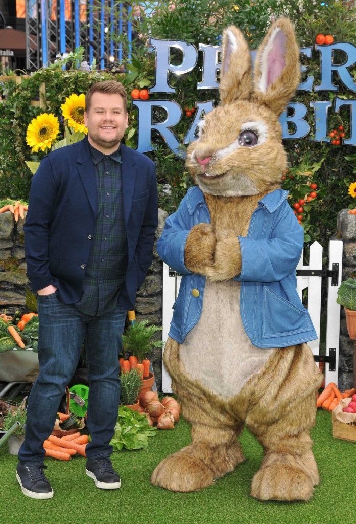 James Corden Attends the Peter Rabbit Premiere in London-2