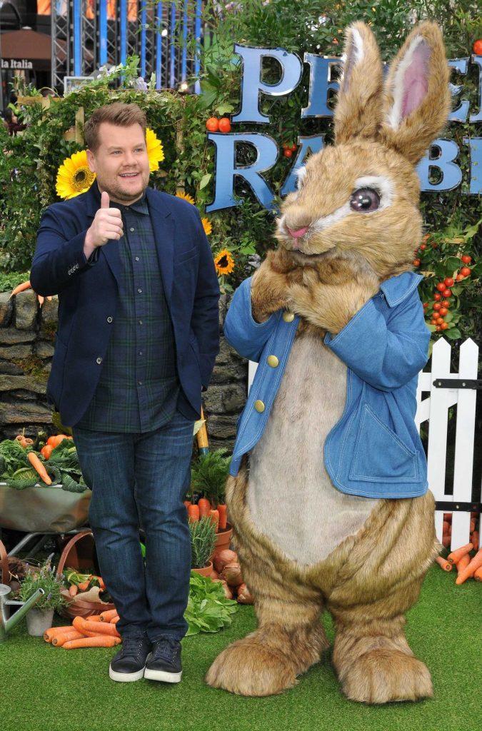 James Corden Attends the Peter Rabbit Premiere in London-3