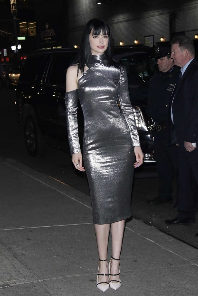 Krysten Ritter Arrives at The Late Show with Stephen Colbert in New York-1