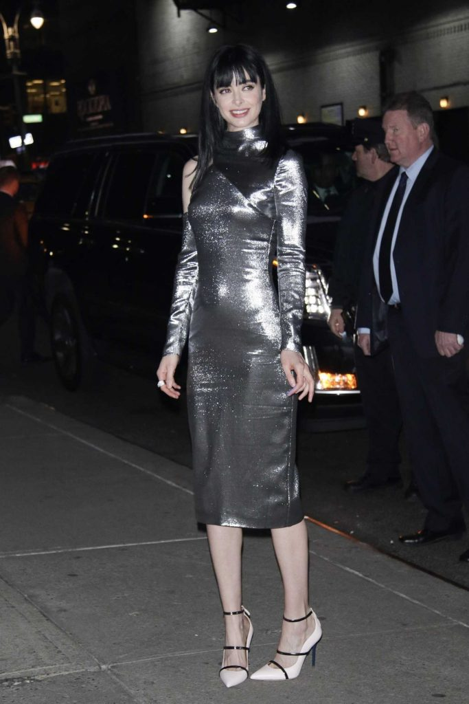 Krysten Ritter Arrives at The Late Show with Stephen Colbert in New York-2