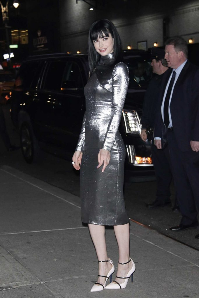 Krysten Ritter Arrives at The Late Show with Stephen Colbert in New York-3