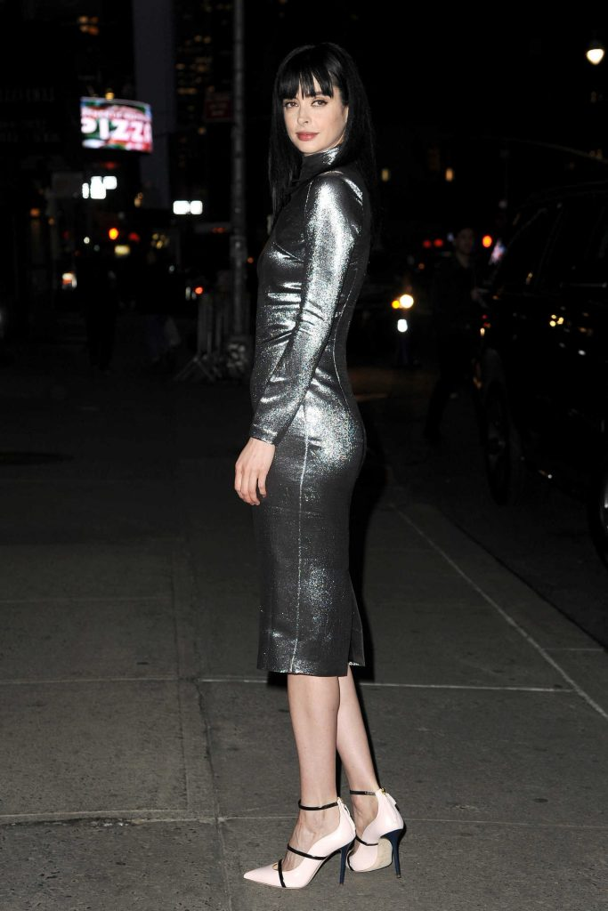 Krysten Ritter Arrives at The Late Show with Stephen Colbert in New York-4