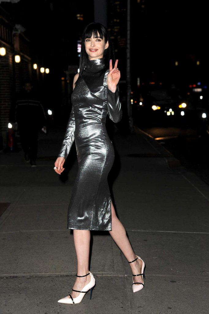Krysten Ritter Arrives at The Late Show with Stephen Colbert in New York-5