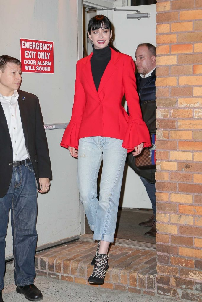 Krysten Ritter Leaves The Daily Show with Trevor Noah in New York City-1