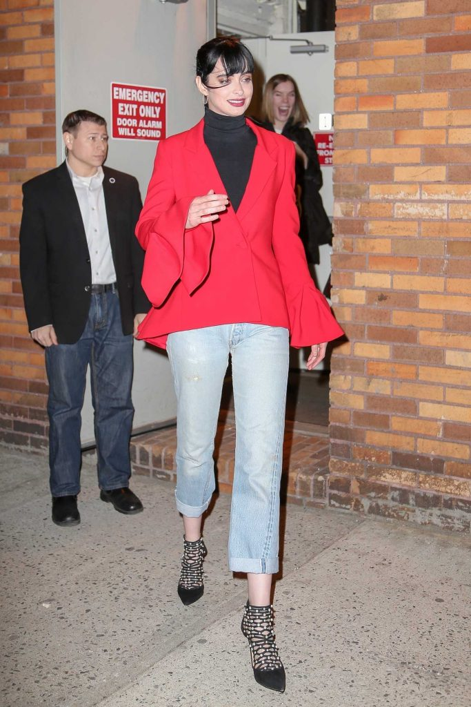 Krysten Ritter Leaves The Daily Show with Trevor Noah in New York City-2