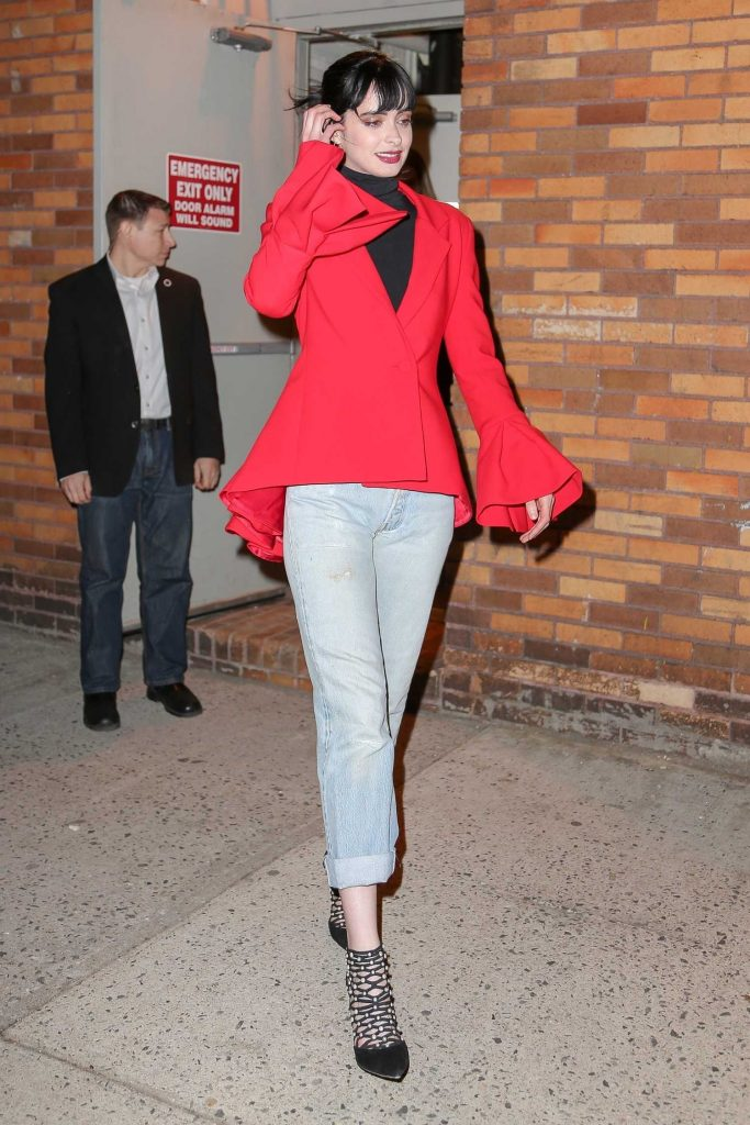 Krysten Ritter Leaves The Daily Show with Trevor Noah in New York City-3