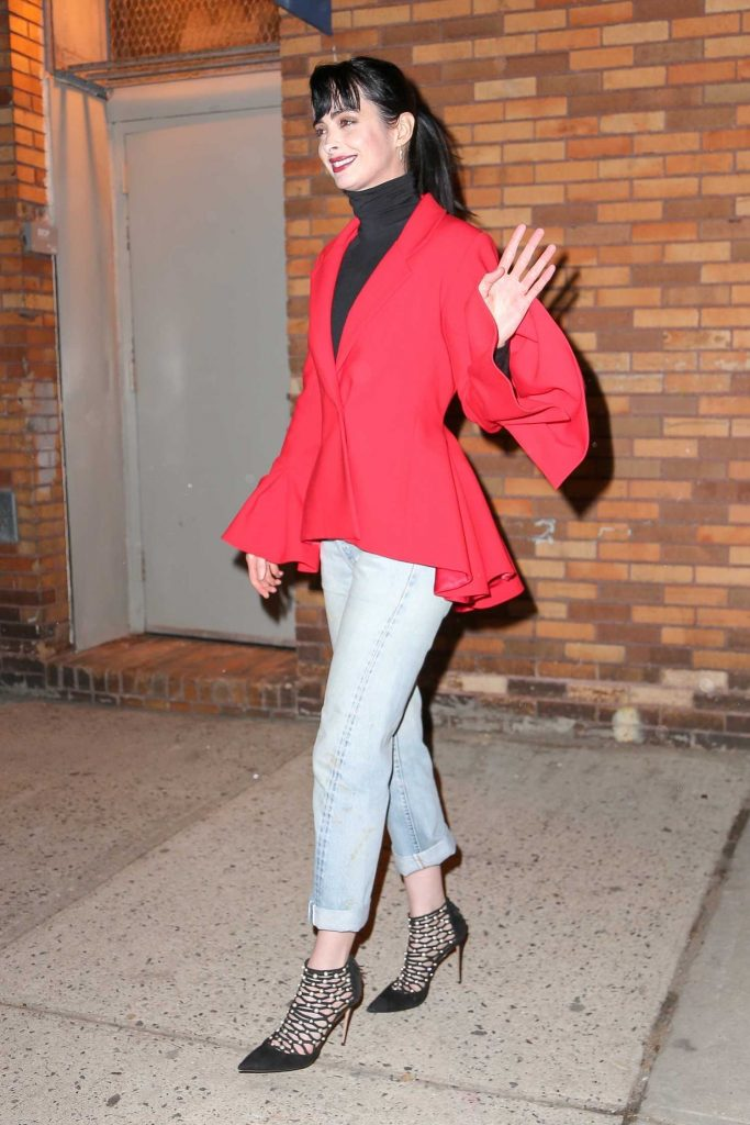 Krysten Ritter Leaves The Daily Show with Trevor Noah in New York City-5
