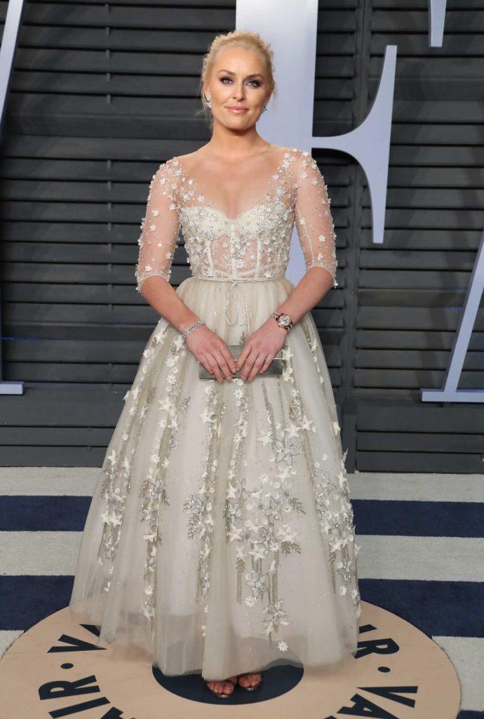 Lindsey Vonn at 2018 Vanity Fair Oscar Party in Beverly Hills-1