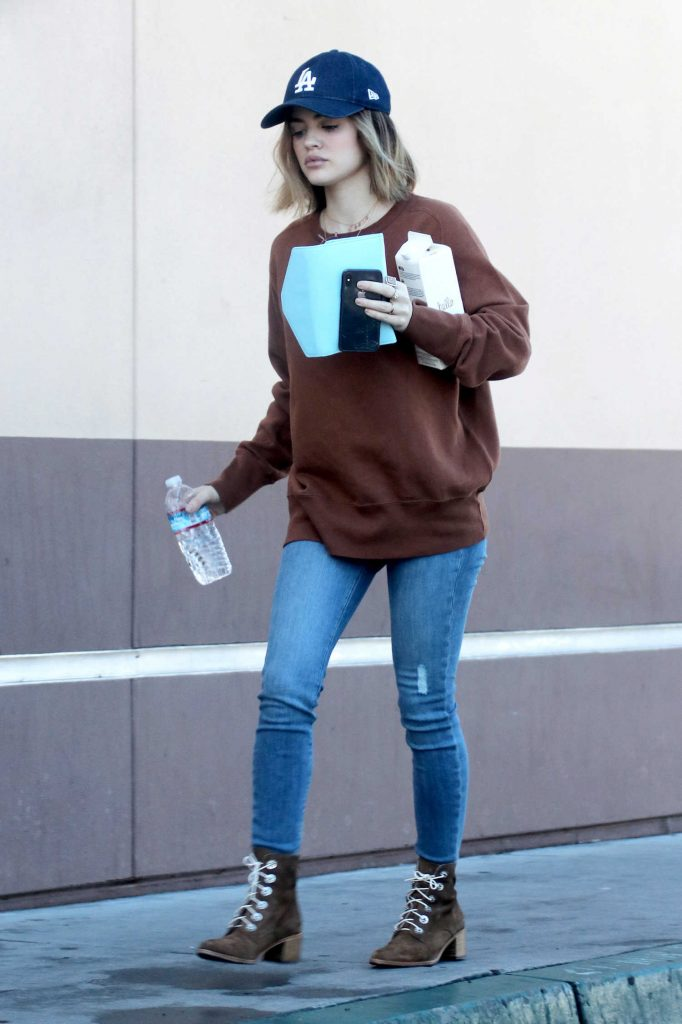 Lucy Hale Grabs Some Food Out in LA-1