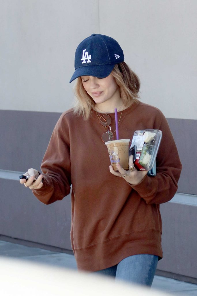 Lucy Hale Grabs Some Food Out in LA-2
