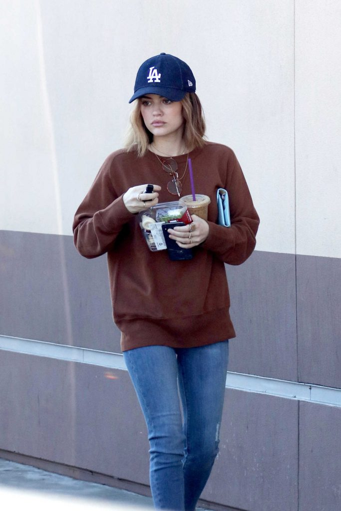 Lucy Hale Grabs Some Food Out in LA-3
