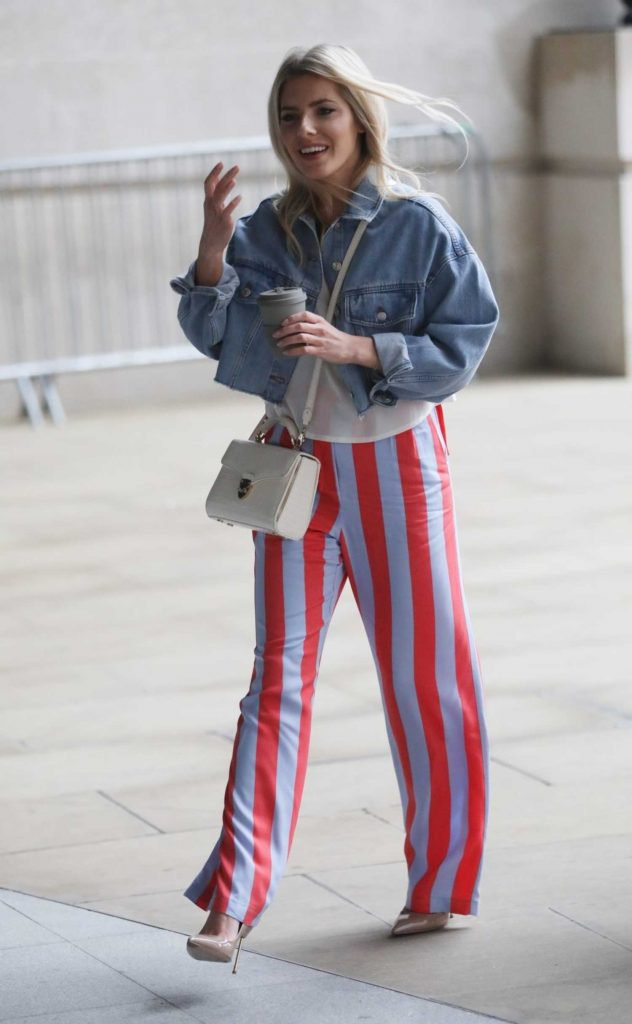 Mollie King Arrives at BBC Radio in London-1