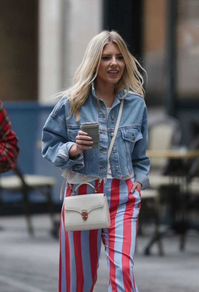 Mollie King Arrives at BBC Radio in London-3