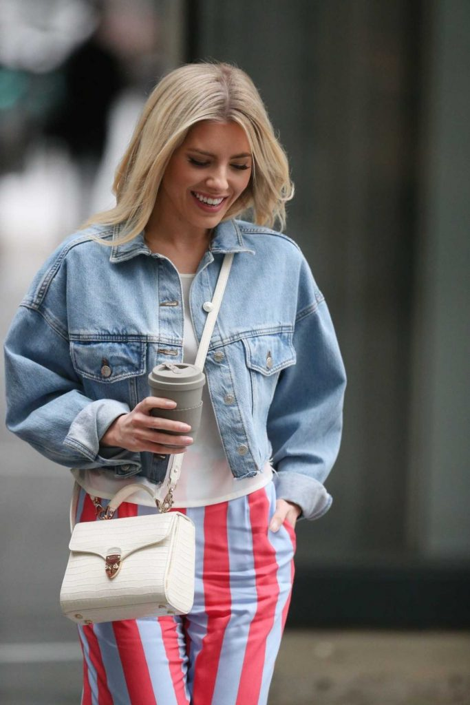 Mollie King Arrives at BBC Radio in London-4